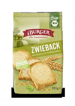 BURGER Bio Zwieback 225g