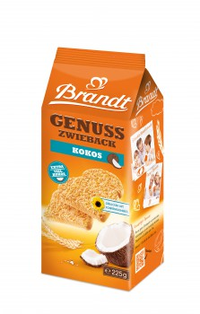 Brandt Genuss Zwieback Kokos 225g