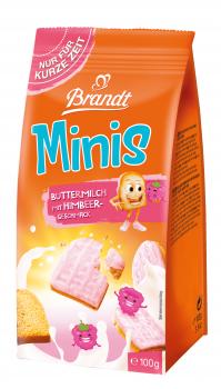 Brandt Minis Buttermilch mit Himbeergeschmack 100g