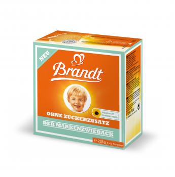 Brandt Markenzwieback, ohne Zuckerzusatz