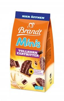 Brandt Minis Vollkorn-Zartbitter Schoko 125g