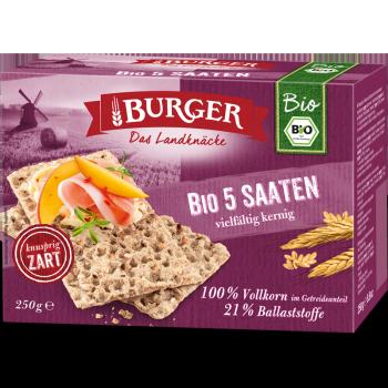 BURGER Bio 5-Saaten 250g DE-ÖKO-001